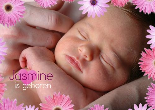 voorbeeld geboortekaartje met foto