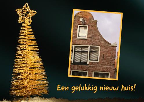kerst verhuiskaart met twee foto's