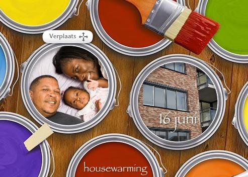 fotokaarten voorbeeld housewarming