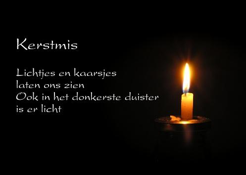 voorbeelden kerstkaarten teksten kaars