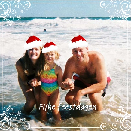 voorbeeld zomerse fotokaarten kerstkaart